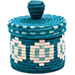 African Basket - Burundi Sisal Coil Weave Canister - 5 Inches Tall - #76476