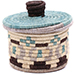 African Basket - Burundi Sisal Coil Weave Canister - 4.75 Inches Tall - #76477