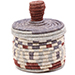 African Basket - Burundi Sisal Coil Weave Canister - 4.75 Inches Tall - #76478