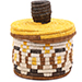 African Basket - Burundi Sisal Coil Weave Canister - 4.75 Inches Tall - #76479