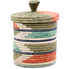 African Basket - Burundi Sisal Coil Weave Canister - 7.5 Inches Tall - #76489