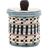 African Basket - Burundi Sisal Coil Weave Canister - 7.5 Inches Tall - #76504