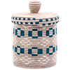 African Basket - Burundi Sisal Coil Weave Canister - 7.5 Inches Tall - #76507