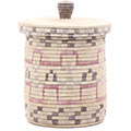 African Basket - Burundi Sisal Coil Weave Canister - 9.75 Inches Tall - #76543