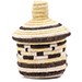 African Basket - Burundi Sisal Coil Weave Canister - 5.5 Inches Tall - #76558