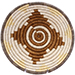 African Basket - Burundi Sisal Coil Weave Bowl -  6.25 Inches Across - #76881