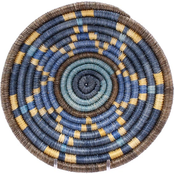 African Basket - Burundi Sisal Coil Weave Bowl -  6 Inches Across - #76887