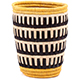 African Basket - Burundi Raffia Coil Weave Vase - 5.5 Inches Tall - #77110