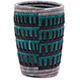 African Basket - Burundi Raffia Coil Weave Vase - 5.5 Inches Tall - #77111