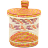 African Basket - Burundi Sisal Coil Weave Canister - 8.25 Inches Tall - #94918