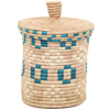 African Basket - Burundi Sisal Coil Weave Canister - 8.25 Inches Tall - #94925