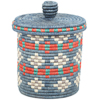 African Basket - Burundi Sisal Coil Weave Canister - 7.75 Inches Tall - #94926