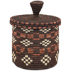 African Basket - Burundi Sisal Coil Weave Canister - 7.5 Inches Tall - #94927