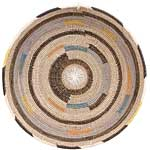 African Basket - Cameroon Coil Weave Bowl - 15.5 Inches Across - #68284