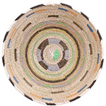 African Basket - Cameroon Coil Weave Bowl - 15.5 Inches Across - #72578