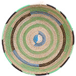 African Basket - Cameroon Coil Weave Bowl - 15.5 Inches Across - #72598