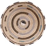 African Basket - Cameroon Coil Weave Bowl - 15.5 Inches Across - #72603