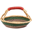 African Basket - Ghana Bolga - Short Round - 12.5 Inches Across - #74301