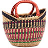 African Basket - Ghana Bolga - Mini Yikene Tote - 11 Inches Across - #74742