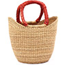 African Basket - Ghana Bolga - Mini Yikene Tote -  9.5 Inches Across - #74744
