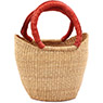 African Basket - Ghana Bolga - Mini Yikene Tote - 10 Inches Across - #74745