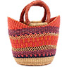 African Basket - Ghana Bolga - Mini Yikene Tote -  9 Inches Across - #74748