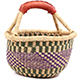 African Mini Market Basket - Ghana Bolga -  8.5 Inches Across - #75095