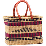 African Basket - Ghana Bolga - Medium Rectangular - 15 Inches Across - #75522
