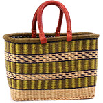 African Basket - Ghana Bolga - Medium Rectangular - 15 Inches Across - #75523