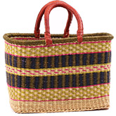 African Basket - Ghana Bolga - Large Rectangular - 16 Inches Across - #75524