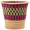 African Basket - Ghana Bolga - Bucket - 12.5 Inches Across - #75555