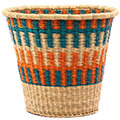 African Basket - Ghana Bolga - Bucket - 13.5 Inches Across - #75556