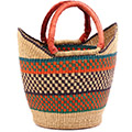 African Basket - Ghana Bolga - Medium Yikene Tote - 11.5 Inches Across - #76298