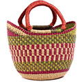 African Basket - Ghana Bolga - Medium Yikene Tote - 13 Inches Across - #76299