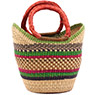 African Basket - Ghana Bolga - Mini Yikene Tote -  9.5 Inches Across - #76300