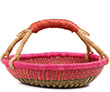 African Basket - Ghana Bolga - Short Round - 13.5 Inches Across - #76650