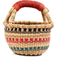 African Mini Market Basket - Ghana Bolga -  8.5 Inches Across - #76998