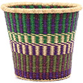 African Basket - Ghana Bolga - Bucket - 13 Inches Across - #77428