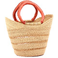 African Basket - Ghana Bolga - Medium Yikene Tote - 13.5 Inches Across - #77459