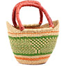 African Basket - Ghana Bolga - Mini Yikene Tote - 10.5 Inches Across - #77461