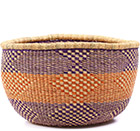 African Basket - Ghana Bolga - No Handle Market - 15.5 Inches Across - #77507