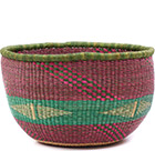African Basket - Ghana Bolga - No Handle Market - 16 Inches Across - #77517