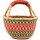 African Mini Market Basket - Ghana Bolga -  8.5 Inches Across - #77542