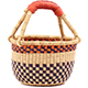 African Mini Market Basket - Ghana Bolga -  8.5 Inches Across - #77929