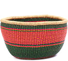 African Basket - Ghana Bolga - No Handle Market - 15 Inches Across - #78218