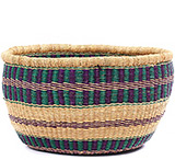 African Basket - Ghana Bolga - No Handle Market - 17 Inches Across - #78221