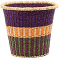African Basket - Ghana Bolga - Bucket - 13 Inches Across - #78407