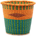 African Basket - Ghana Bolga - Bucket - 12.5 Inches Across - #78408