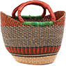 African Basket - Ghana Bolga - Mini Yikene Tote - 12 Inches Across - #78472