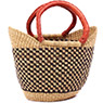 African Basket - Ghana Bolga - Mini Yikene Tote - 11.5 Inches Across - #78473